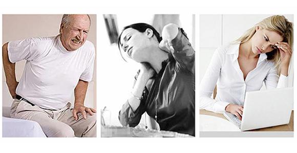 Lenden- und Halsschmerzen
